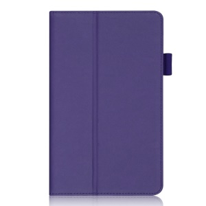 Purple for Samsung Galaxy Tab S 8.4 T700 T705 Stand Leather Shell w/ Elastic Hand Strap & Card Slots