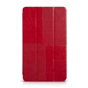 HOCO Retro Series Tri-fold Stand Leather Cover for Samsung Galaxy Tab S 8.4 T700 T705 - Red