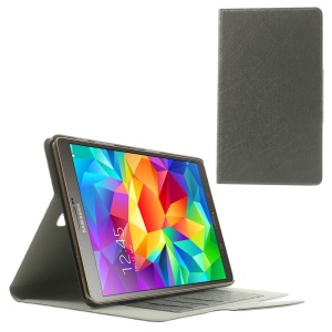Grey for Samsung Galaxy Tab S 8.4 T700 T705 Scribbled Lines Leather Stand Card Holder Cover