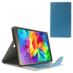 Blue Smart Scribbled Lines Leather Stand Case for Samsung Galaxy Tab S 8.4 T700