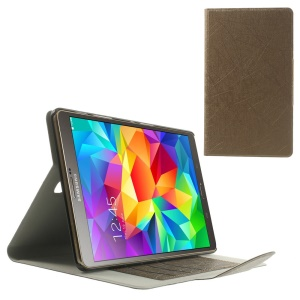 Brown Scribbled Lines Leather Stand Card Holder Case for Samsung Galaxy Tab S 8.4 T700
