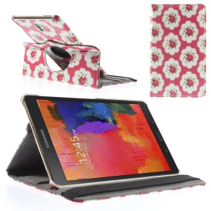 Rose Flowers Smart Leather Case w/ 360 Degree Rotary Stand for Samsung Galaxy Tab S 8.4 T700 T705