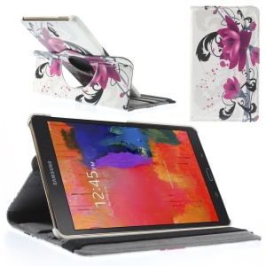 Elegant Lotus Smart Leather Cover w/ 360 Degree Rotary Stand for Samsung Galaxy Tab S 8.4 T700 T705