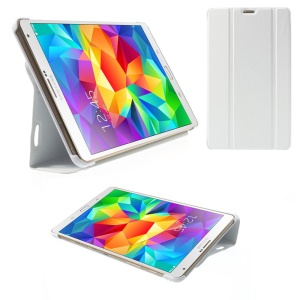 White Tri-fold Stand Leather Smart Cover for Samsung Galaxy Tab S 8.4 T700 T705