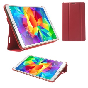 Red Tri-fold Leather Smart Case w/ Stand for Samsung Galaxy Tab S 8.4 T700 T705