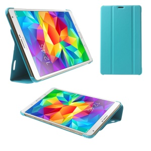 Baby Blue Leather Smart Case w/ Tri-fold Stand for Samsung Galaxy Tab S 8.4 T700 T705