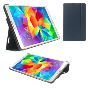 Dark Blue PU Leather Smart Case w/ Tri-fold Stand for Samsung Galaxy Tab S 8.4 T700 T705