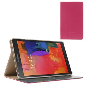 Rose Grid Pattern Smart Leather Case w/ Stand for Samsung Galaxy Tab S 8.4 T700 T705