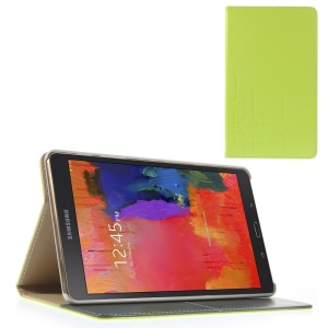 Green Grid Pattern Smart Leather Cover w/ Stand for Samsung Galaxy Tab S 8.4 T700 T705