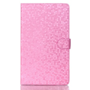 Football Grain Smart Leather Magnetic Case w/ Stand for Samsung Galaxy Tab S 8.4 T700 T705 - Pink
