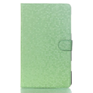 Football Grain Smart Leather Magnetic Shell w/ Stand for Samsung Galaxy Tab S 8.4 T700 T705 - Green