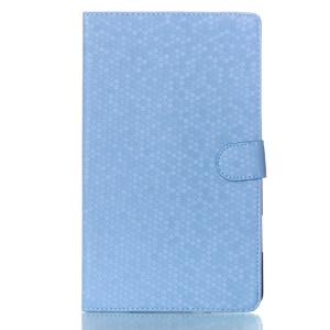 Football Grain Smart Flip Leather Case w/ Stand for Samsung Galaxy Tab S 8.4 T700 T705 - Blue
