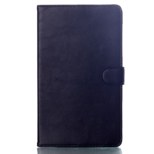 For Samsung Galaxy Tab S 8.4 T700 T705 Glossy Surface Smart Leather Magnetic Case w/ Stand - Black