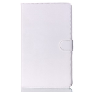 For Samsung Galaxy Tab S 8.4 T700 T705 Glossy Surface Smart Leather Magnetic Cover w/ Stand - White