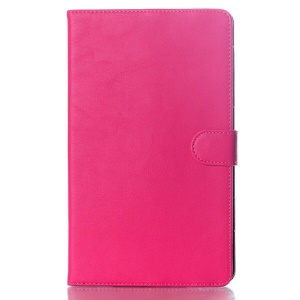 For Samsung Galaxy Tab S 8.4 T700 T705 Glossy Surface Magnetic Smart Leather Shell w/ Stand - Rose