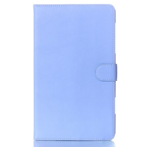 For Samsung Galaxy Tab S 8.4 T700 T705 Glossy Surface Magnetic Smart Leather Cover w/ Stand - Blue