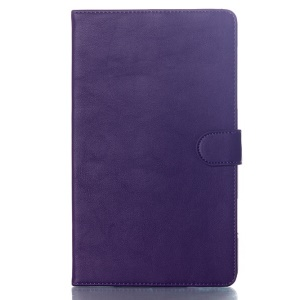 For Samsung Galaxy Tab S 8.4 T700 T705 Glossy Surface Magnetic Smart Leather Cover Stand - Purple