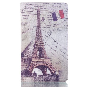 Eiffel Tower for Samsung Galaxy Tab S 8.4 T700 T705 Smart PU Leather Folio Case w/ Stand