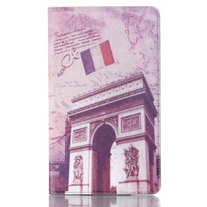 Smart Leather Shell w/ Stand for Samsung Galaxy Tab S 8.4 T700 T705 - Triumphal Arch