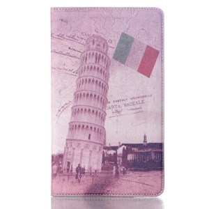 Smart Leather Case w/ Stand for Samsung Galaxy Tab S 8.4 T700 T705 - the Leaning Tower of Pisa