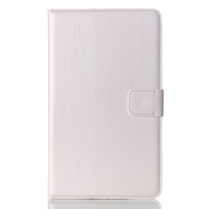 White Oil Buffed Smart Leather Wallet Cover w/ Stand for Samsung Galaxy Tab S 8.4 T700 T705