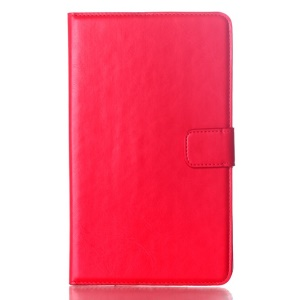 Red Oil Buffed Smart Leather Wallet Shell w/ Stand for Samsung Galaxy Tab S 8.4 T700 T705
