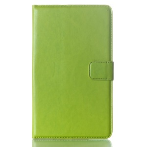 Green Oil Buffed Smart Leather Case w/ Wallet & Stand for Samsung Galaxy Tab S 8.4 T700 T705