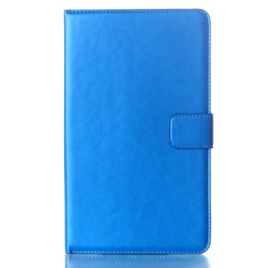 Blue Oil Buffed Smart Leather Cover w/ Wallet & Stand for Samsung Galaxy Tab S 8.4 T700 T705