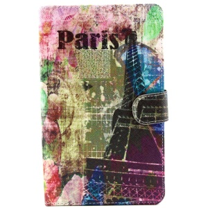 Eiffel & Paris Leather Stand Case w/ Wallet for Samsung Galaxy Tab S 8.4 T700 T705