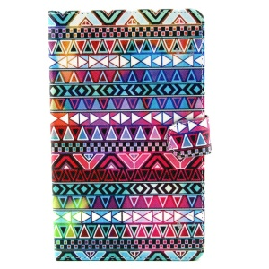 Tribe Triangles Stand Leather Case w/ Wallet for Samsung Galaxy Tab S 8.4 T700 T705