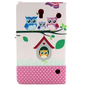 Owls Family Stand Leather Cover w/ Wallet for Samsung Galaxy Tab S 8.4 T700 T705