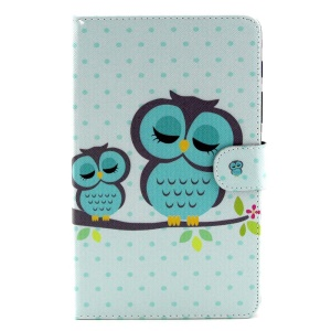 Sleeping Owls Stand Leather Shell w/ Wallet for Samsung Galaxy Tab S 8.4 T700 T705