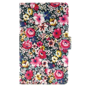 Blooming Flowers Stand Leather Wallet Case for Samsung Galaxy Tab S 8.4 T700 T705