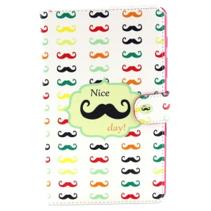 Mustache & Nice Day Stand Leather Wallet Cover for Samsung Galaxy Tab S 8.4 T700 T705