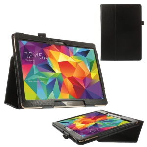 Black Litchi Leather Stand Case for Samsung Galaxy Tab S 10.5-inch T800 T805