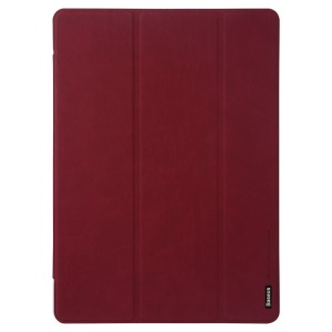 Red Baseus Grace Simplism Series for Samsung Galaxy Tab S 10.5 T800 T805 Tri-fold Stand Smart Leather Cover