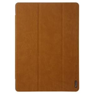 Brown Baseus Grace Simplism Series Tri-fold Stand Smart Leather Case for Samsung Galaxy Tab S 10.5 T800 T805