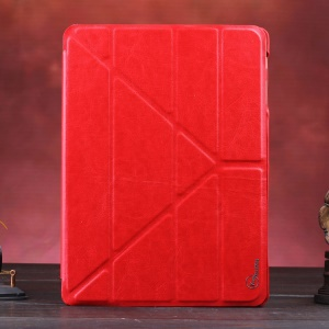 Red KLX Enland Series Origami Leather Case for Samsung Galaxy Tab S 10.5 T800 T805