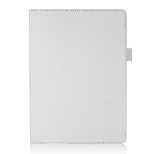 Folio Smart Leather Case for Samsung Galaxy Tab S 10.5-inch T800 T805 with Elastic Hand Strap / Card Holder - White