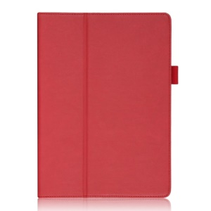 For Samsung Galaxy Tab S 10.5-inch T800 T805 Smart Leather Cover with Elastic Hand Strap / Card Holder - Red