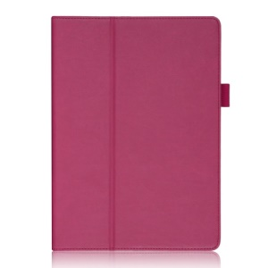 For Samsung Galaxy Tab S 10.5-inch Smart Leather Shell with Elastic Hand Strap / Card Holder - Rose