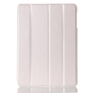 For Samsung Galaxy Tab S 10.5-inch T800 Four-fold Crazy Horse Leather Stand Cover w/ Auto Wake Sleep - White