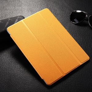 Orange for Samsung Galaxy Tab S 10.5-inch T800 Sand-like Smart Tri-fold Leather Stand Cover