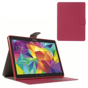 Sand-like Texture Leather Diary Stand Case for Samsung Galaxy Tab S 10.5 T800 - Red