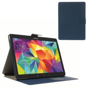 Sand-like Texture Leather Diary Stand Cover for Samsung Galaxy Tab S 10.5 T805 - Blue