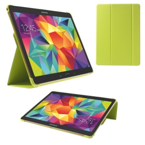 Slim Tri-fold Stand Folio Leather Case for Samsung Galaxy Tab S 10.5 T805 - Green