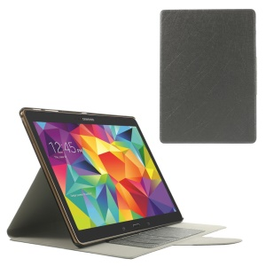 Grey for Samsung Galaxy Tab S 10.5 T800 Scribbled Lines Leather Stand Card Holder Case