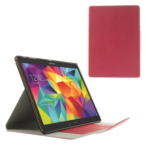 Red for Samsung Galaxy Tab S 10.5 T800 Scribbled Lines Leather Stand Card Holder Cover