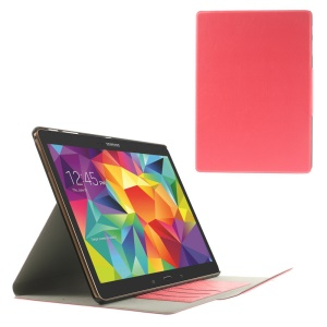 Pink for Samsung Galaxy Tab S 10.5 T805 Scribbled Lines Leather Smart Stand Card Holder Cover
