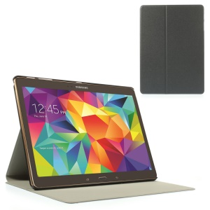 Gray Sand-like Texture Smart Leather Stand Case for Samsung Galaxy Tab S 10.5-inch T800